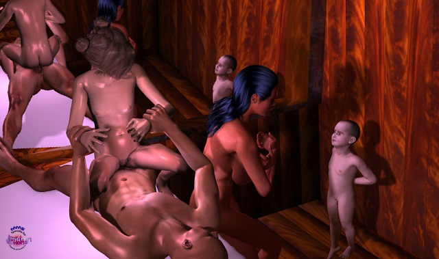 (3d video) lesson in the sauna 2