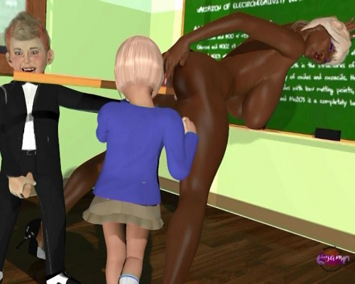 (3d video) school adventure (dream in class)