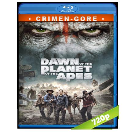 El Planeta De Los Simios Confrontacion (2014) BRRip 720p Audio Trial Latino-Castellano-Ingles 5.1
