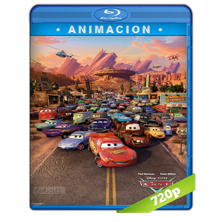 Cars 1 (2006) BRRip 720p Audio Trial Latino-Castellano-Ingles 5.1