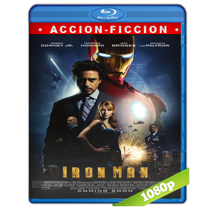 Iron Man 1 El Hombre De Hierro (2008) BRRip Full 1080p Audio Trial Latino-Castellano-Ingles 5.1