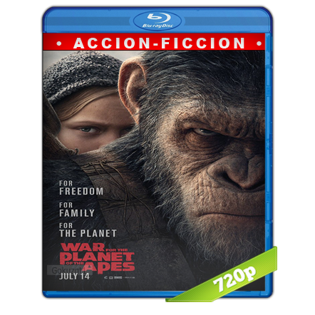 El Planeta De Los Simios La Guerra (2017) BRRip 720p Audio Trial Latino-Castellano-Ingles 5.1