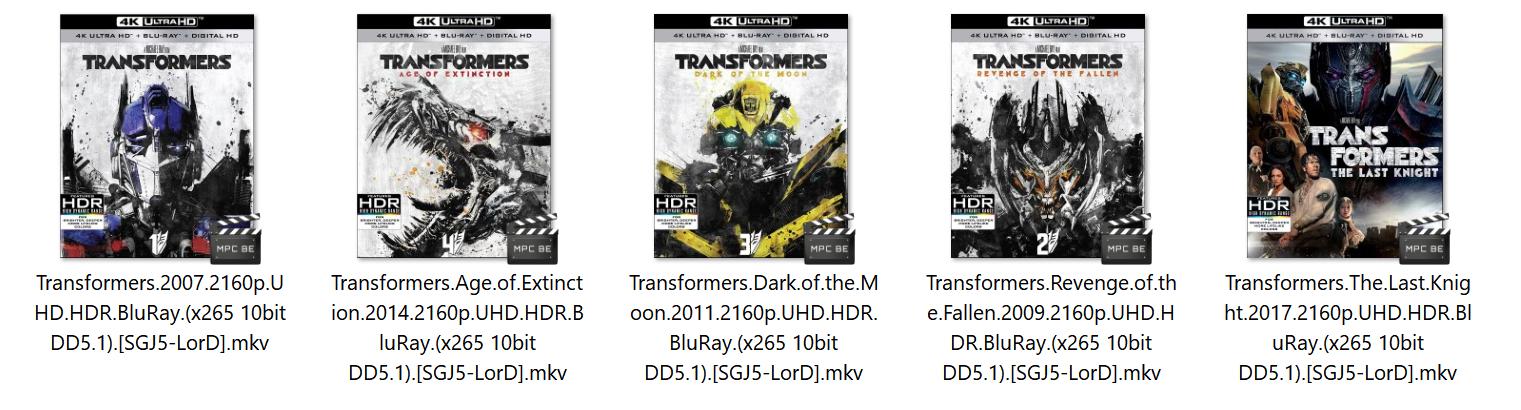 Transformers 2007 2160p UHD HDR BluRay (x265 10bit DD5 1) [SGJ5-LorD]