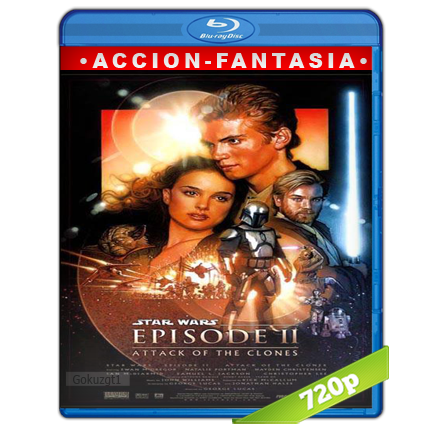 Star Wars Episodio II El Ataque De Los Clones (2002) BRRip 720p Audio Trial Latino-Castellano-Ingles 5.1