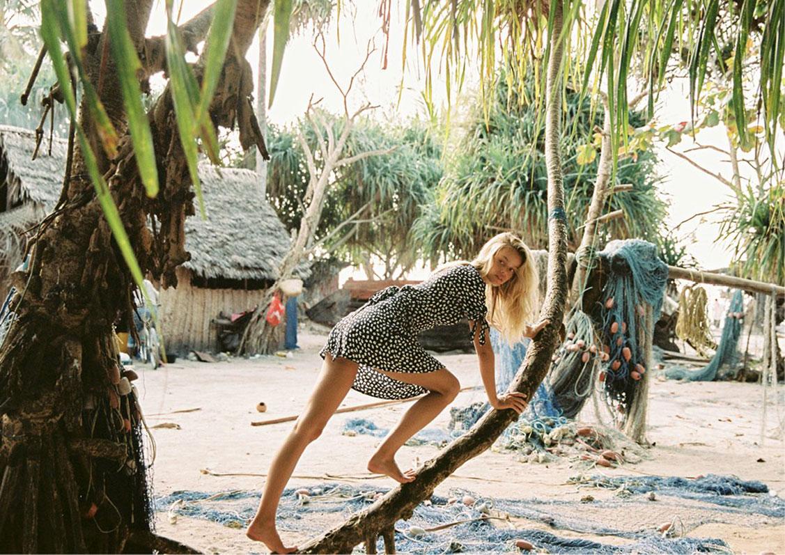 Zanzibar - A Place in the Sun / Frida Aasen by Cameron Hammond / Faithfull the Brand spring 2018