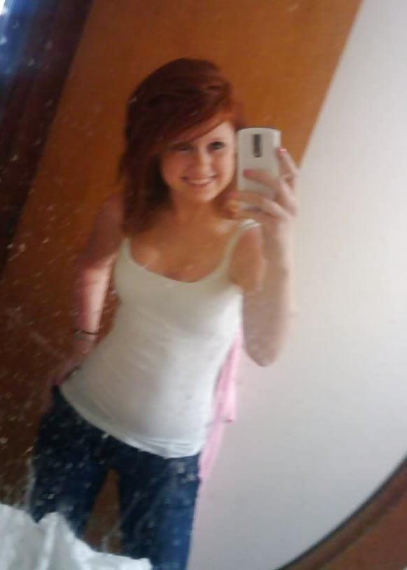Ginger teen nude selfie-2041
