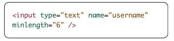 minlength attribute example