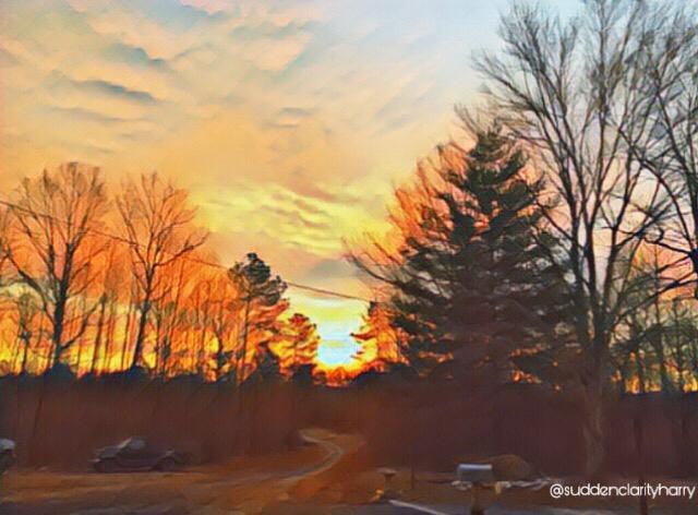 orange sunrise edit tagged