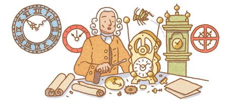 John Harrison's Birthday celebrated by Google GnZtxb7P_o