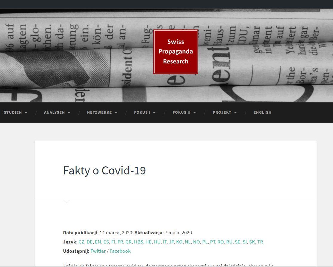 Inna Strona Z Faktami o Covid-19