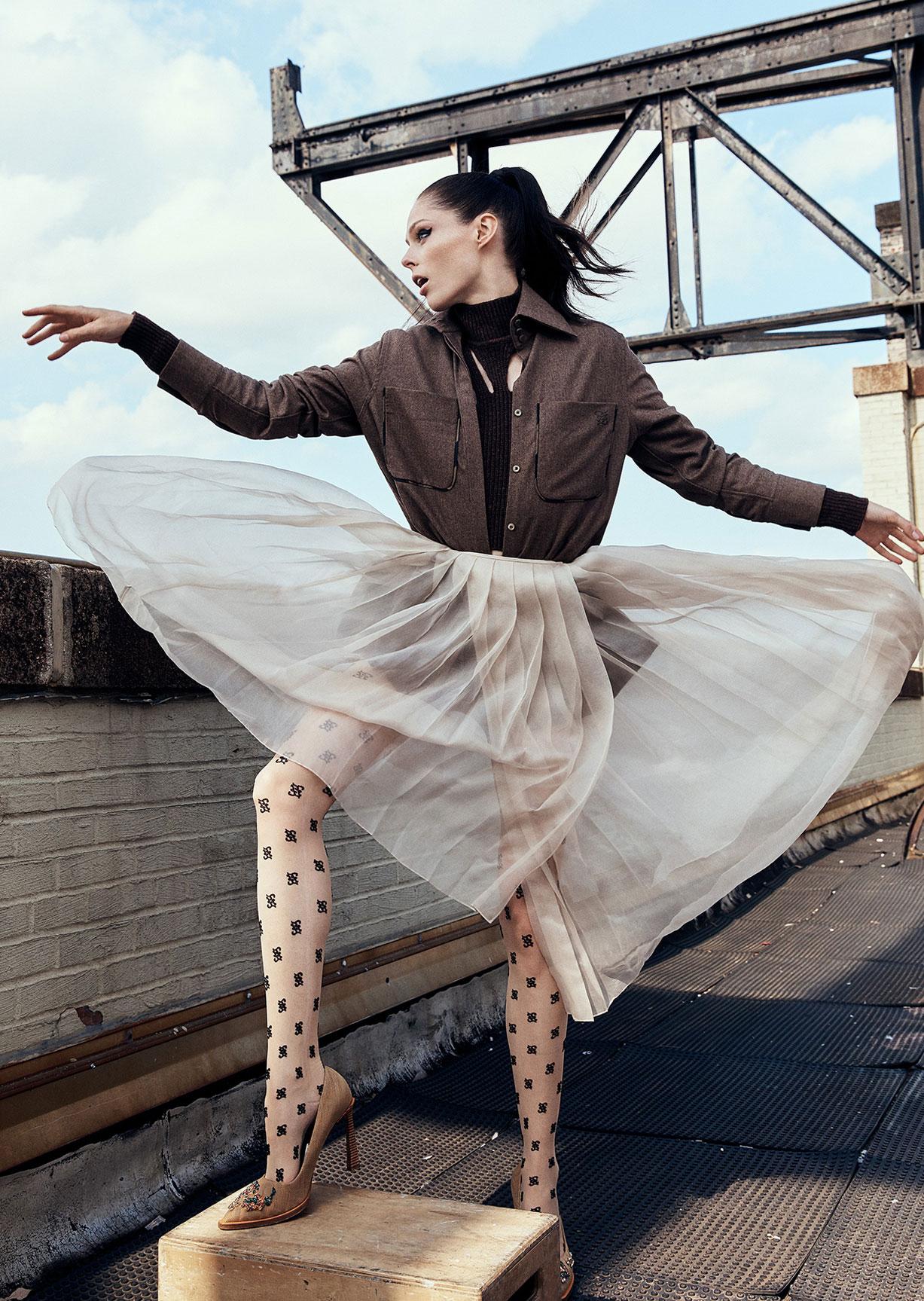 модное дефиле на крыше, модель Коко Роша / фото 05