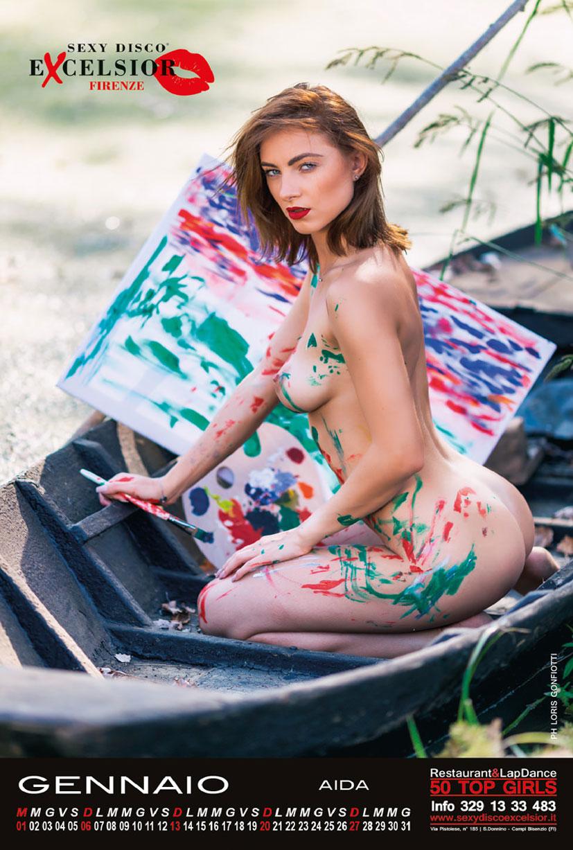 эротический календарь на 2019 год ночного клуба Sexy Disco Excelsior / calendar 2019