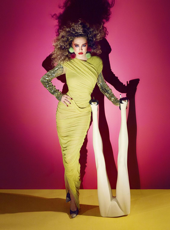 Делайла Белле и модные манекены, фотограф Энрике Вега / фото 08