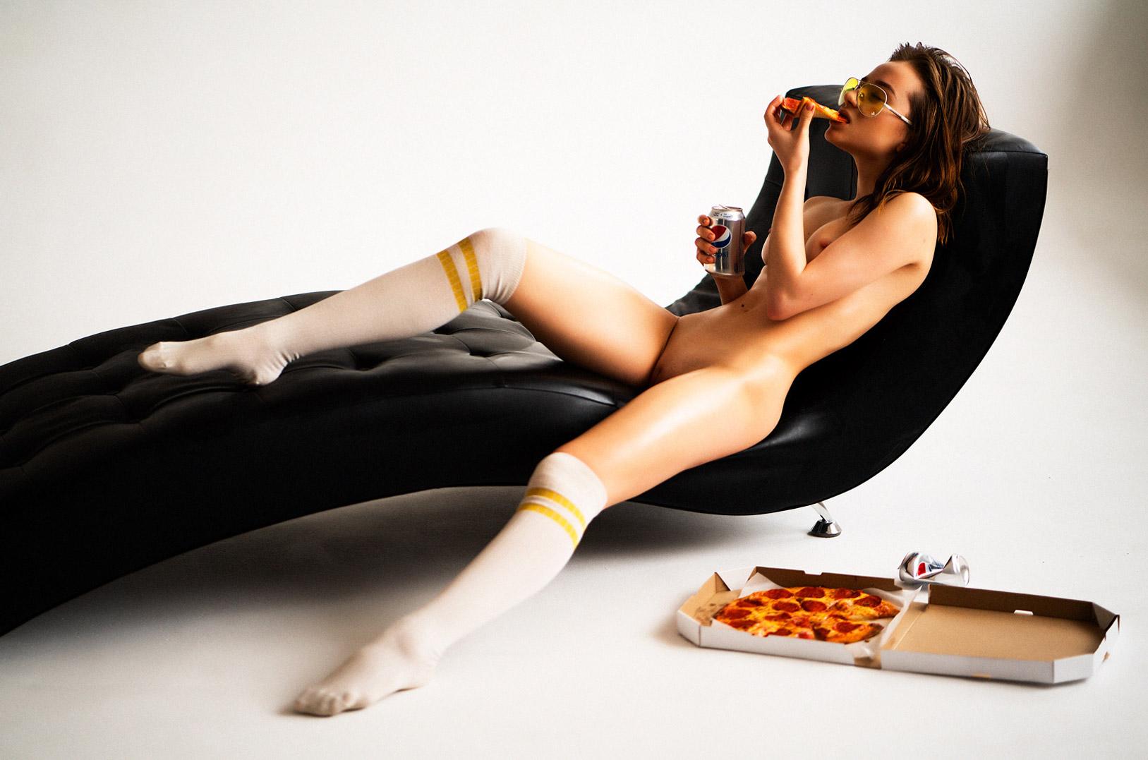 Pizza / Katherine nude by Vladislav Spivak