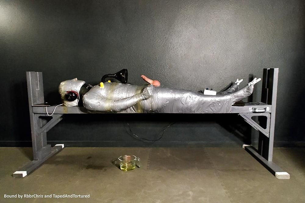 Mummification bondage girl-8905