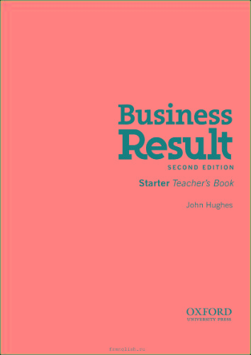 Business Result 2ed Starter Teacher ' s Book