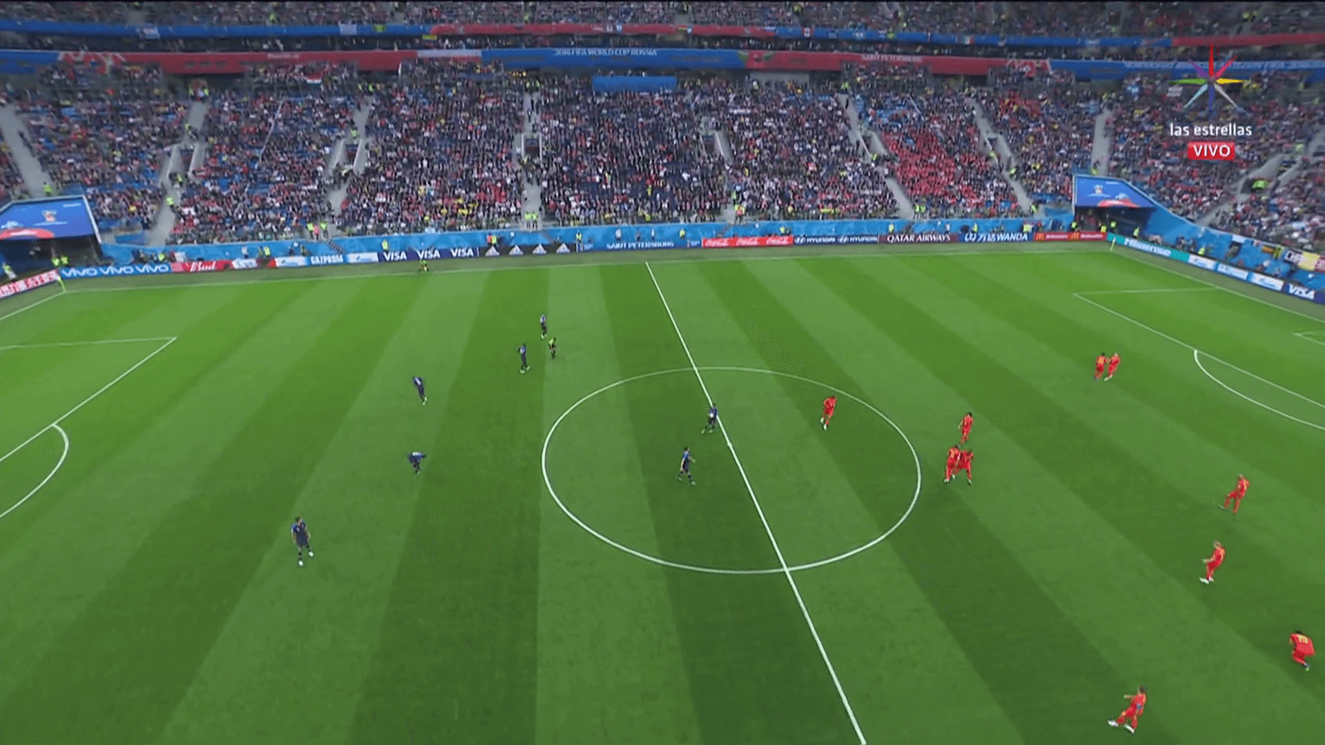 Francia vs Bélgica match