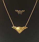 Wonder Woman necklace from Caped Justice Jewelry