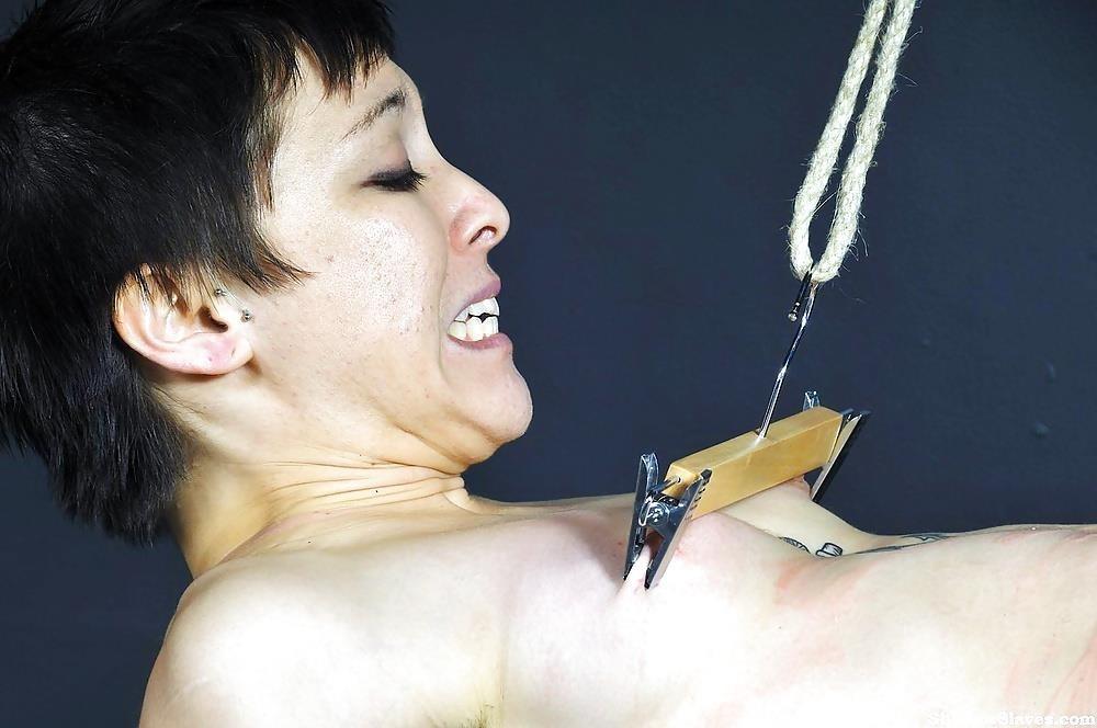 Breast bondage and torture-4028
