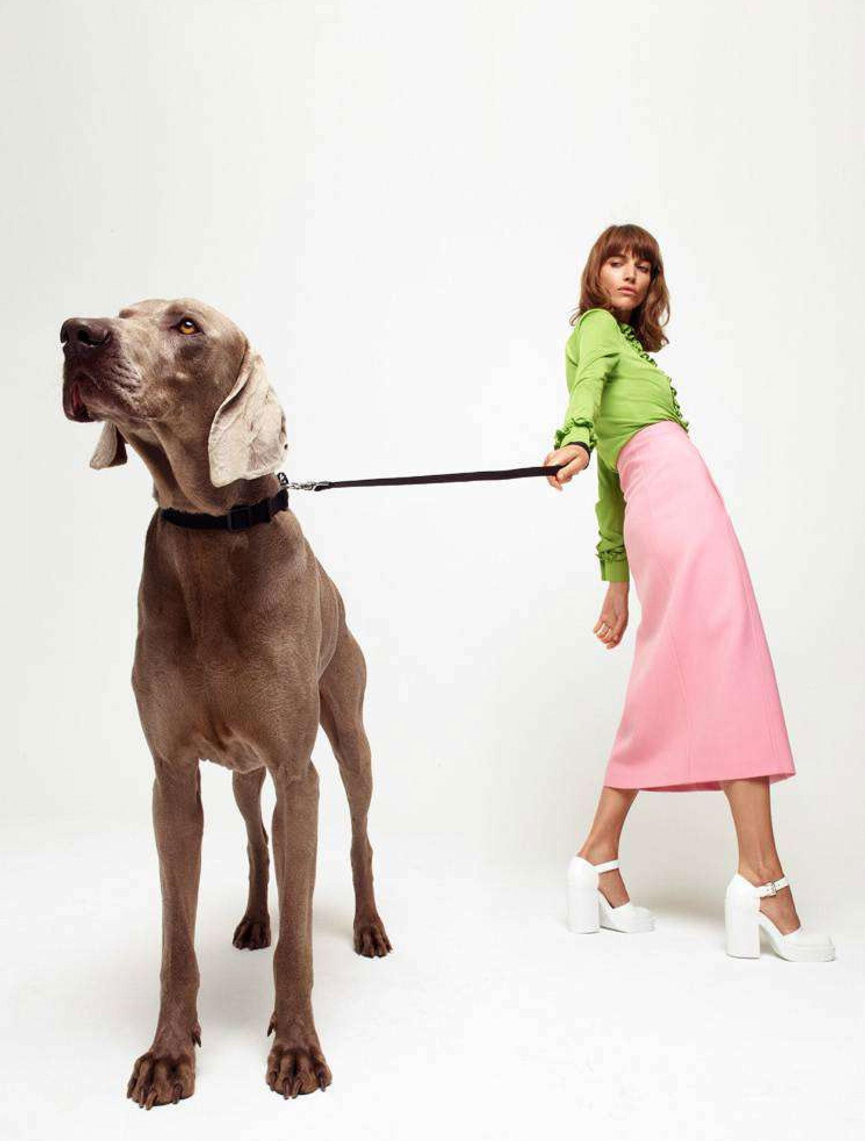 Джоанна Фельдмейер с красивой большой собакой / фото 07