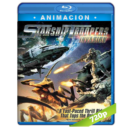 descargar Starship Troopers Invasion 720p Lat-Cast-Ing[Animacion](2012) gratis