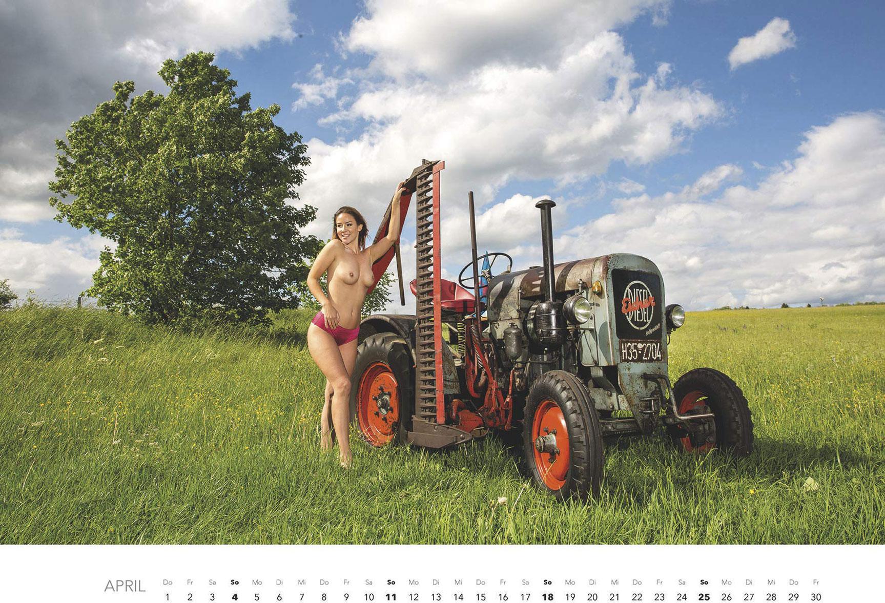 Эротический календарь -Мечты молодых фермеров 2021- / апрель