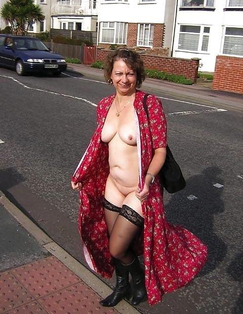 Naked milf in public-6594