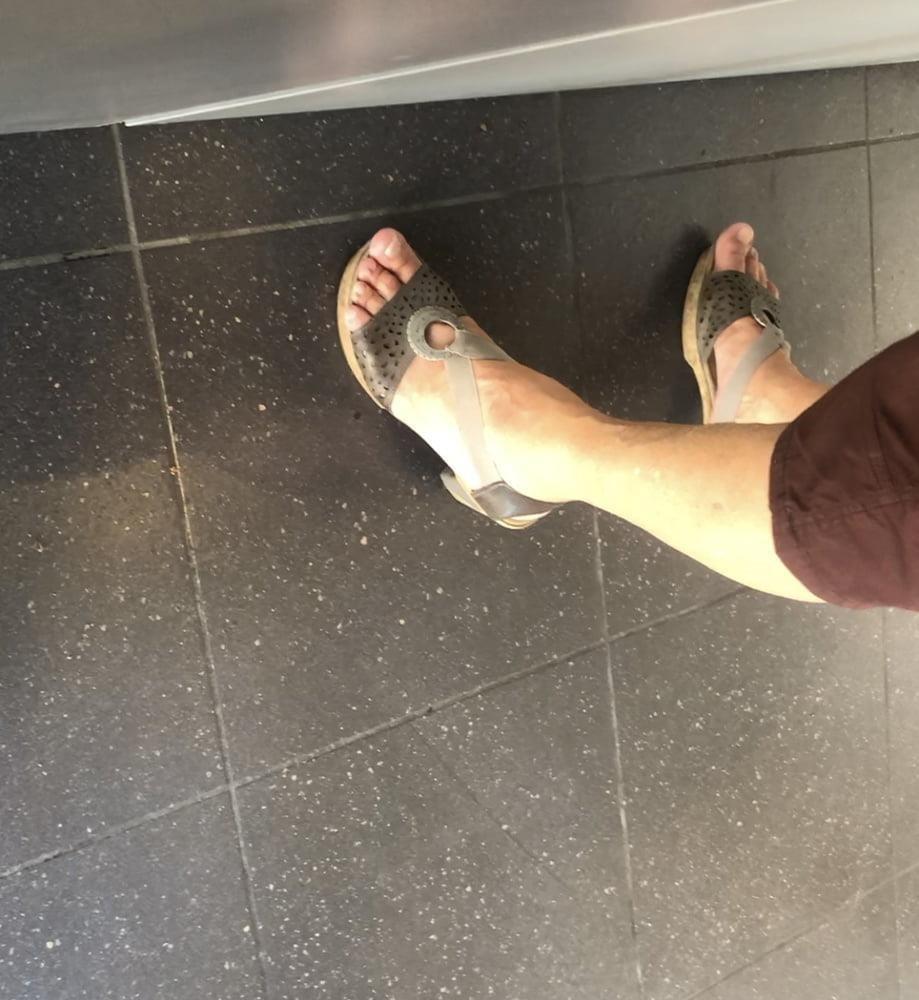 Granny feet in nylons-8220