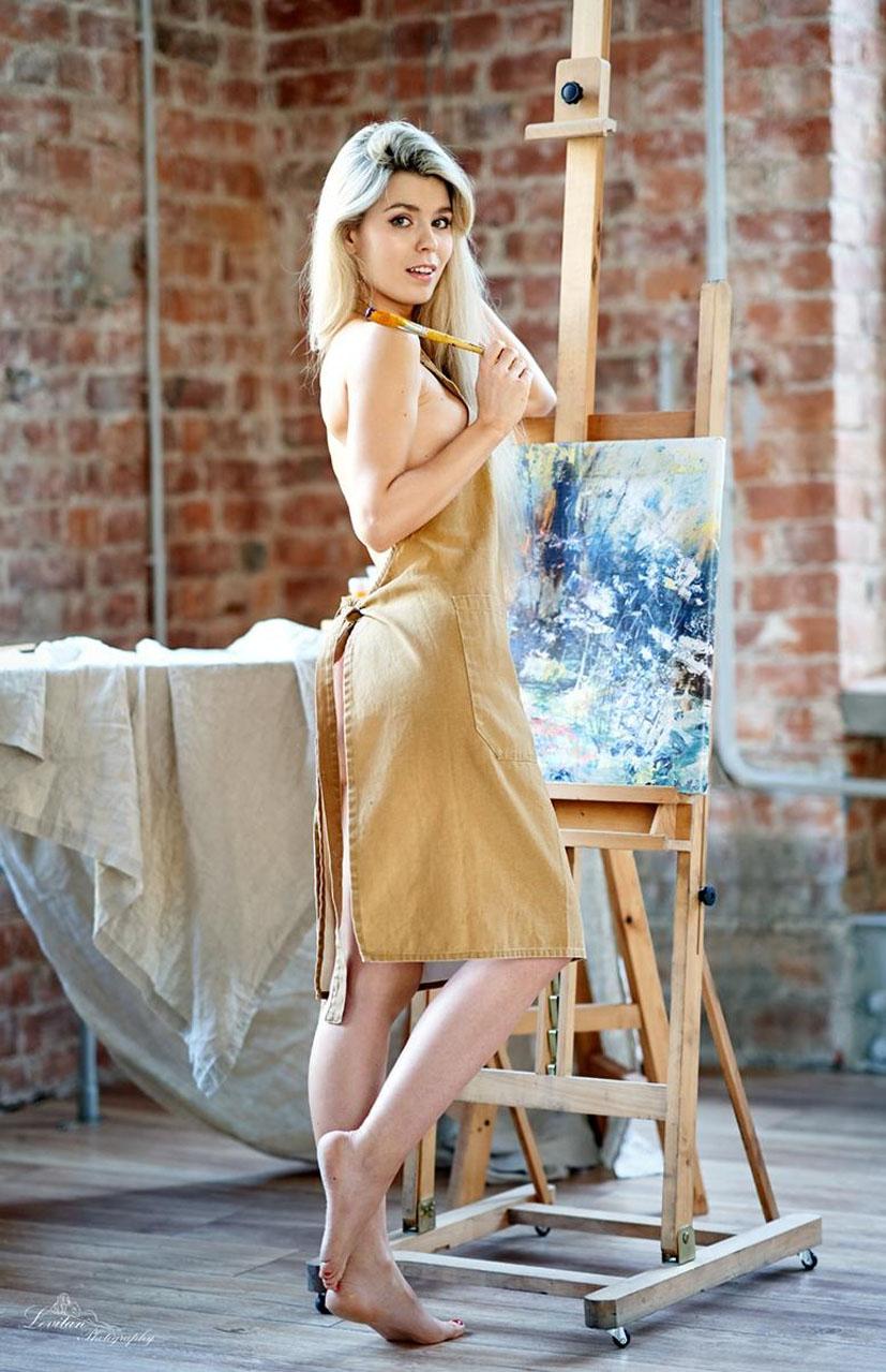 Мария Машина учится рисовать / фото 02
