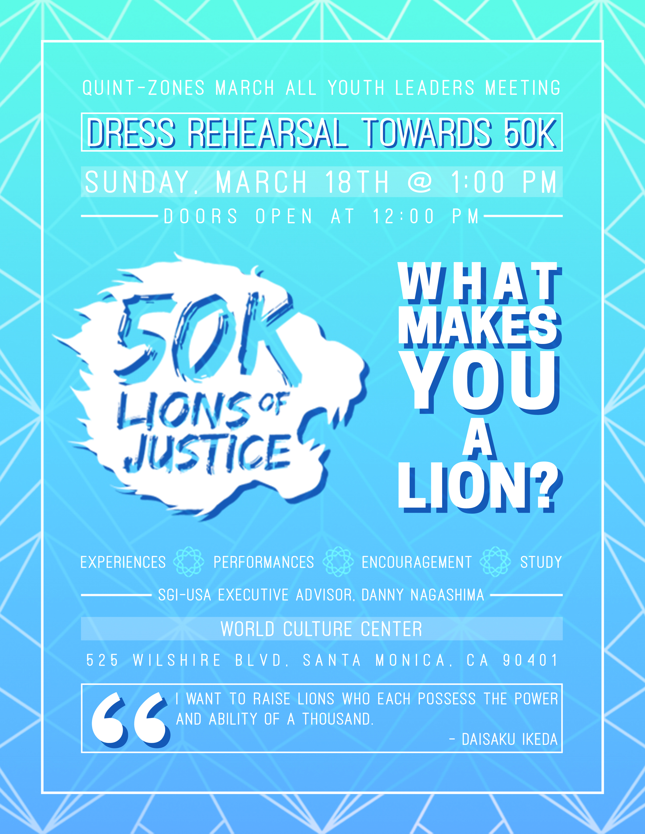 What Makes You A Lion? Flyer