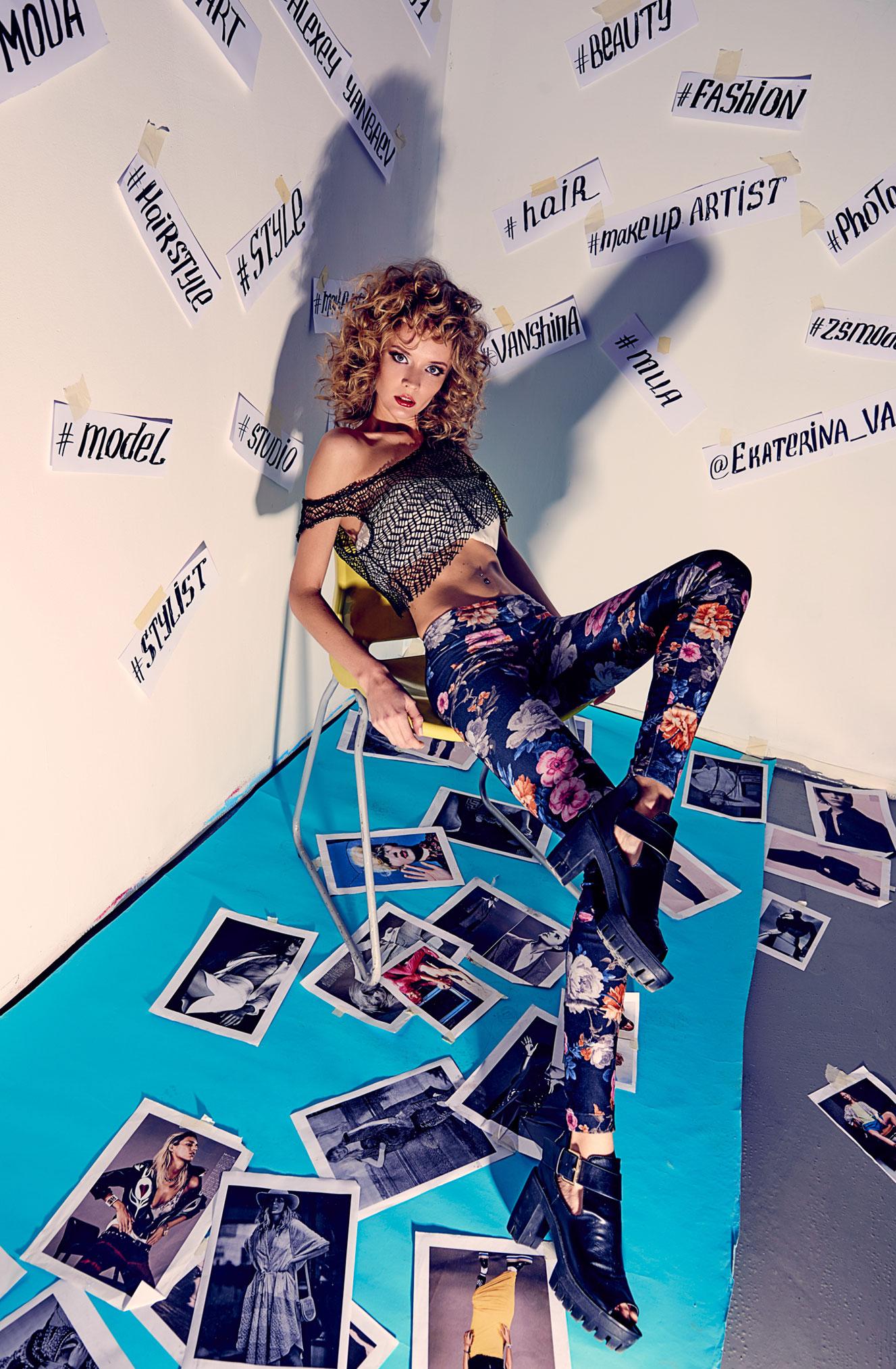 Екатерина Ваньшина и хэштеги в модной фотосессии Алексея Янбаева / фото 07