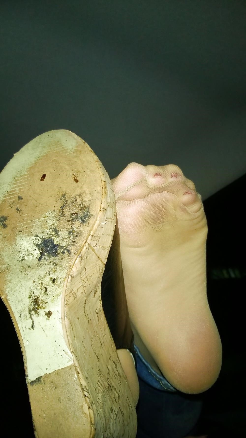 Lesbian foot fetish nylon-4154