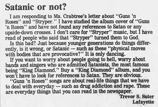 1989.02.21/04.10 - Journal and Courier (Lafayette, IN.) - Readers' letters/Debate on GN'R W1iqSMlk_o