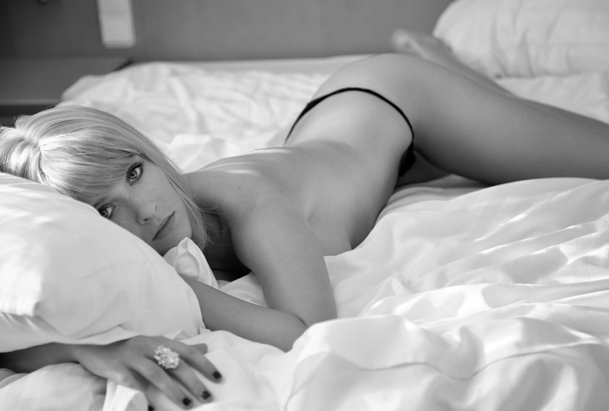 Magda nude by Marcin Biedron in Hotel Room