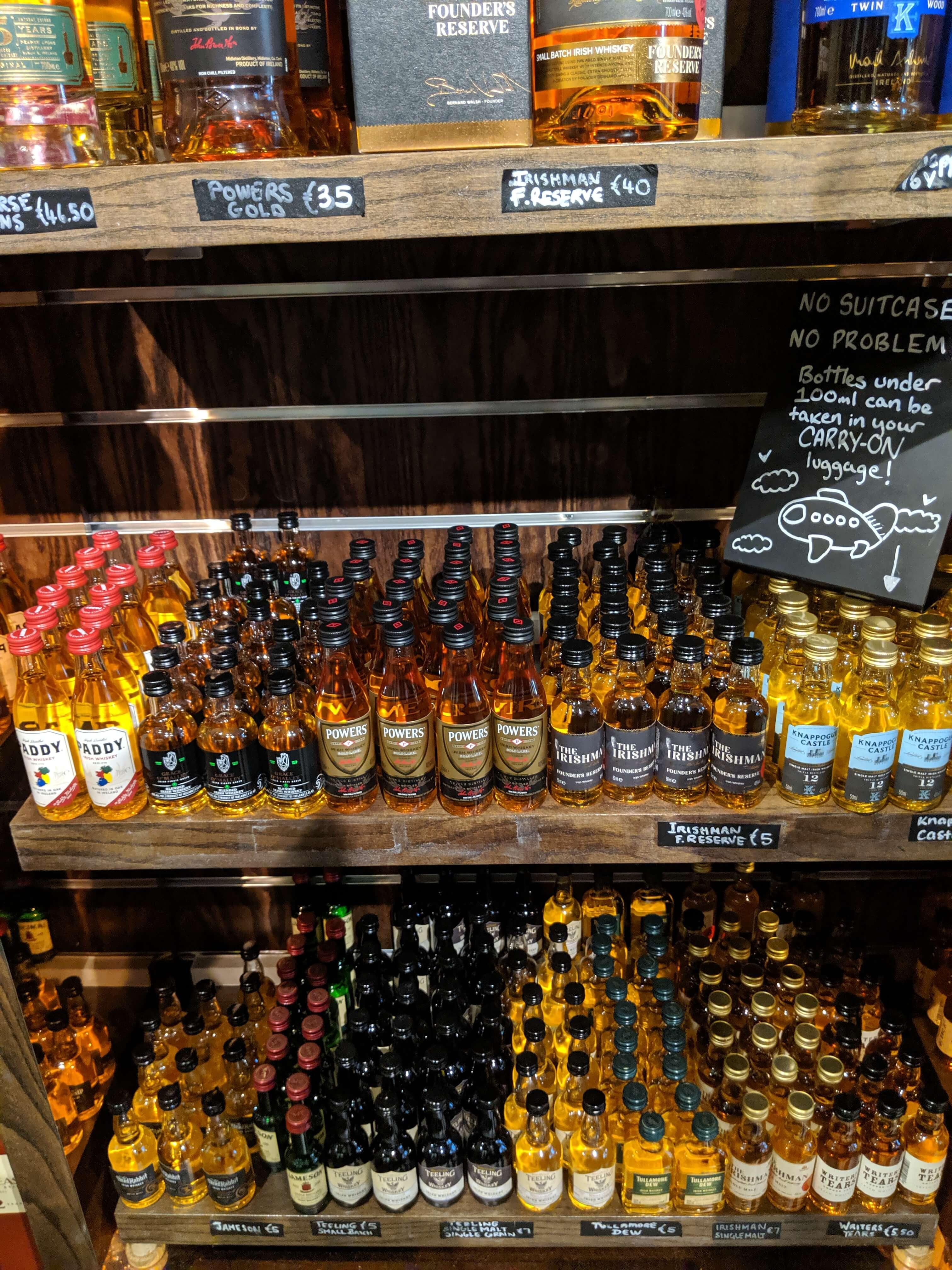 Irish Whiskey Samples