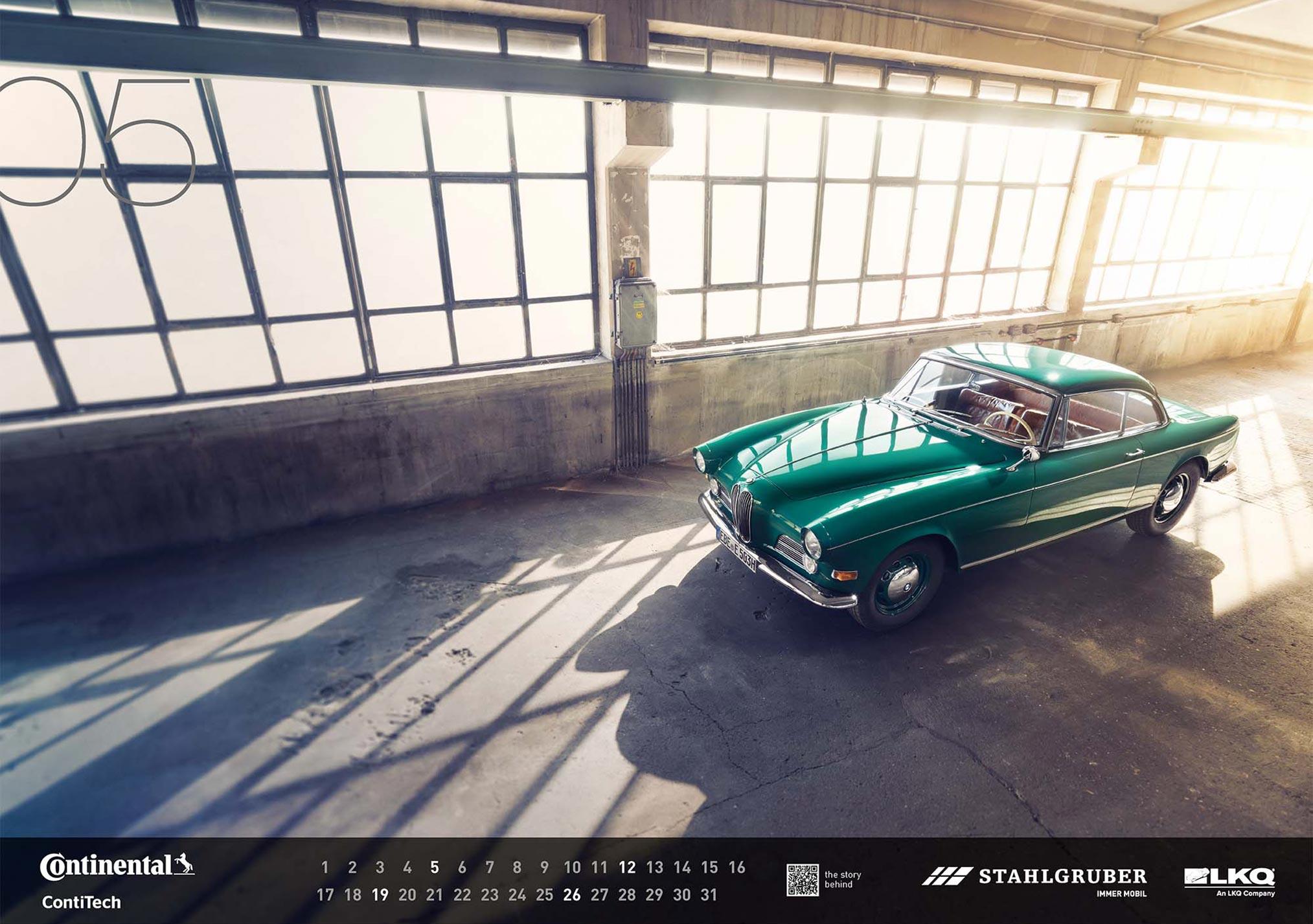 Винтажные автомобили в календаре WERKSTATTkultur 2019