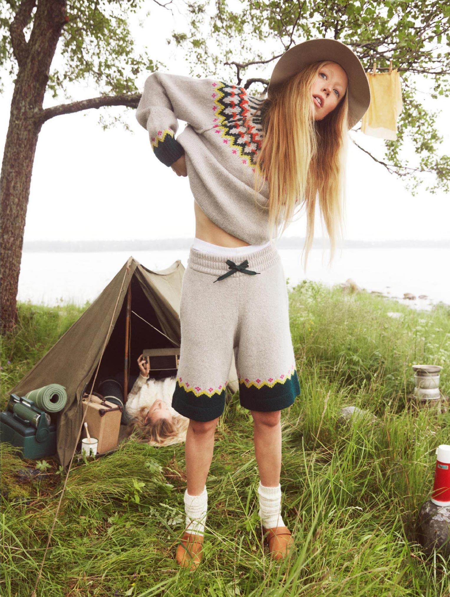 Бразильская модель в гостях у шведской - Эрика Линдер и Ракель Циммерман / фото 12