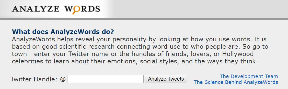 Analyze Words