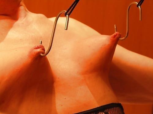 Breast bondage and torture-8282
