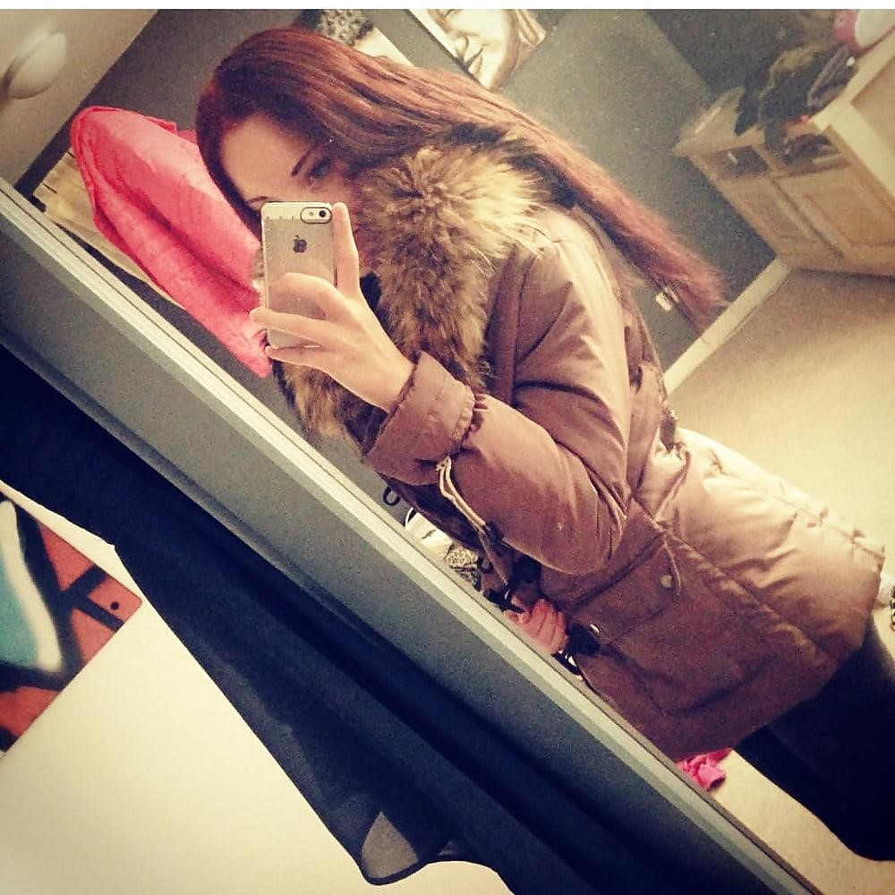 Jean jacket with brown fur-4181