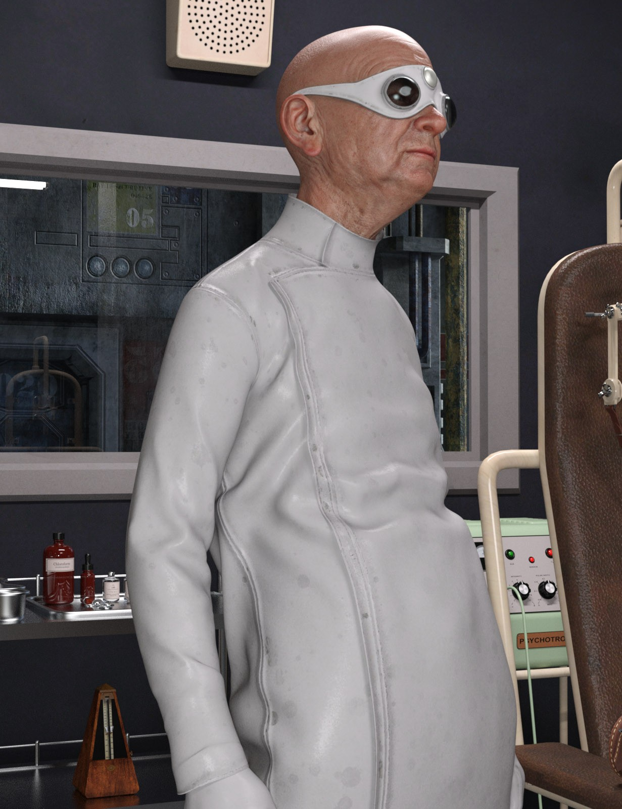 Mad Scientist Outfit for Genesis 8 Male(s)