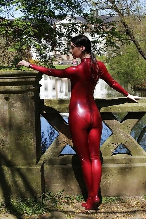 Sexy asian latex-8520