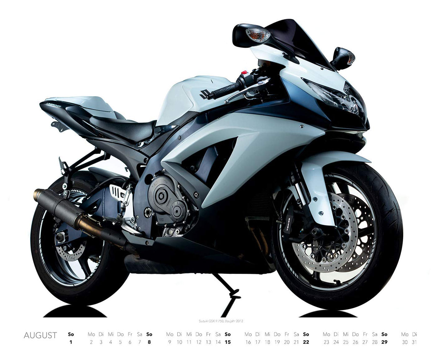 Календарь с крутыми мотоциклами на 2021 год / август