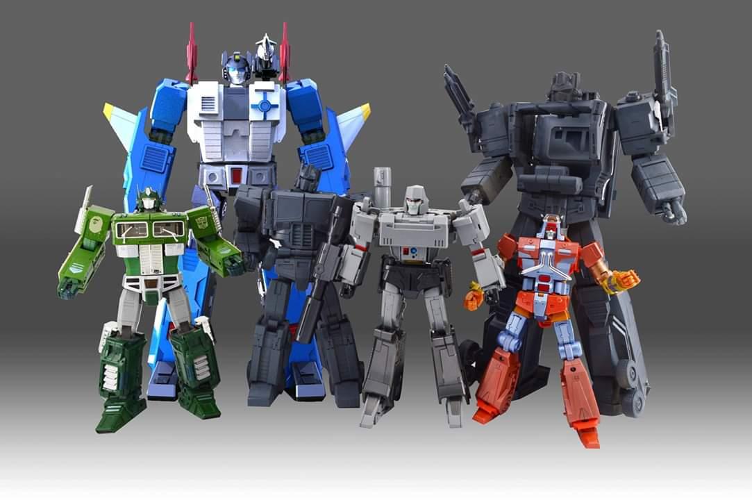 [KFC Toys] Produit Tiers - PC-14 Raijin + PC-15 Grand Raijin + P-16 Raiju - aka Ginrai (Powermaster Optimus) + Remorque de Ginrai + Godbomber = God Ginrai (TF Masterforce) UVL8zyGz_o