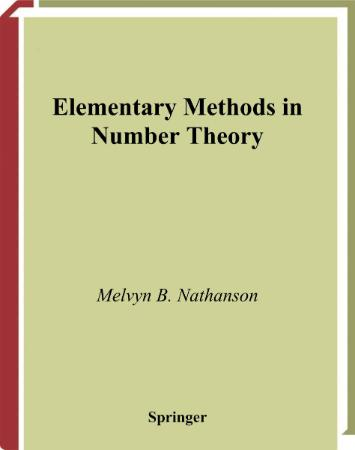 Elementary Methods in Number Theory-Nathanson