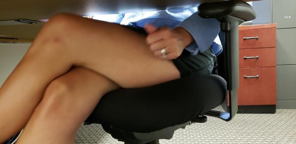 Under the desk foot worship-9701