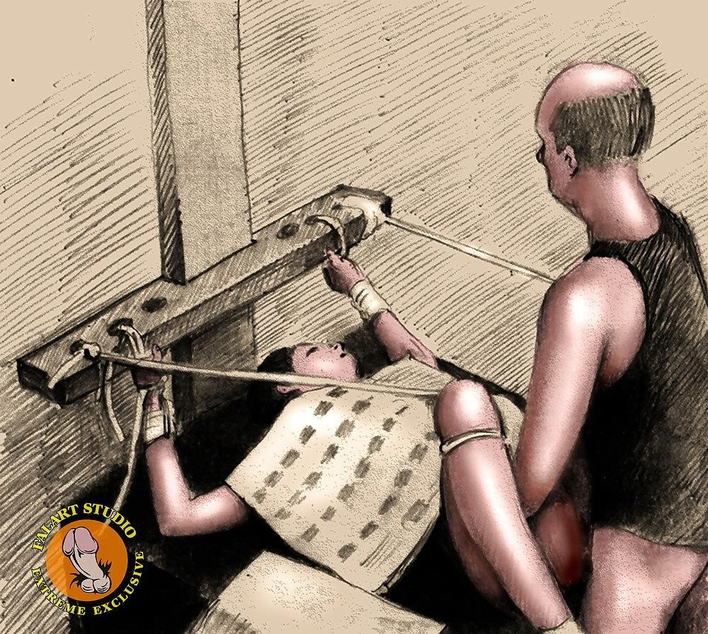 Bdsm slave tied up-9162