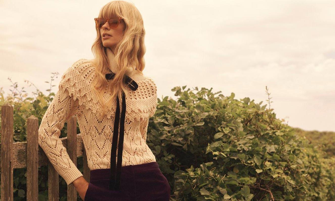 Джулиа Стегнер в одежде из модной коллекции Zimmermann, сезон осень-зима 2020-2021 / фото 09