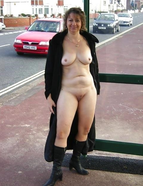 Naked milf in public-1837