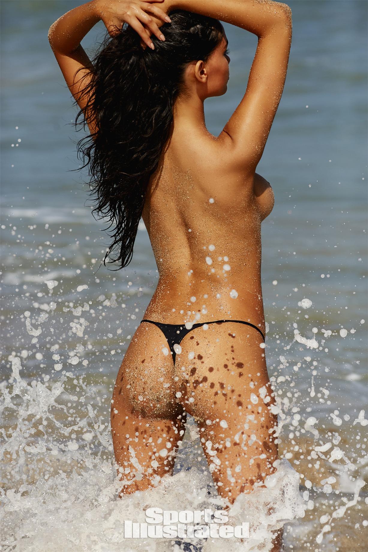 Anne DePaula / Энни ди Паула в купальниках из новой коллекции Sports Illustrated Swimsuit 2018 issue / in Nevis by Josie Clough